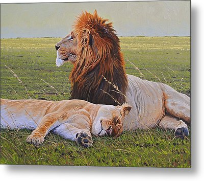 Protecting The Queen Metal Print by Aaron Blaise