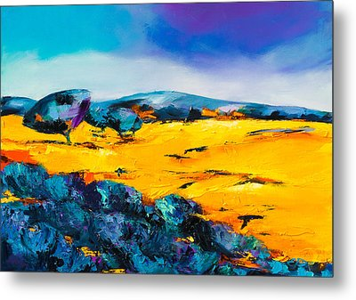 Provencal Countryside Metal Print by Elise Palmigiani