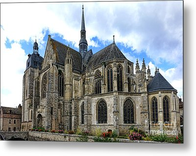 Provincial Church In France Metal Print by Olivier Le Queinec