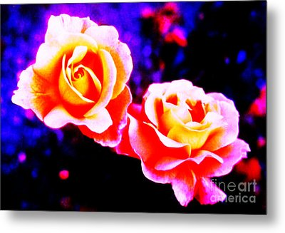 Psychedelic Roses Metal Print by Martin Howard