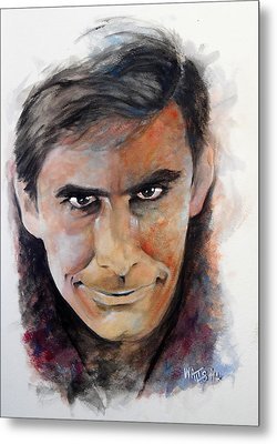 Psycho - Anthony Perkins Metal Print by William Walts