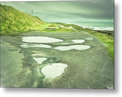 Puddles Metal Print by Tom Gowanlock