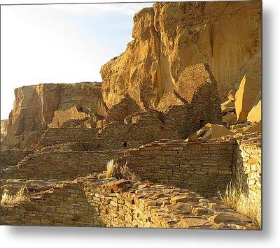 Pueblo Bonito And Cliff Metal Print by Feva  Fotos