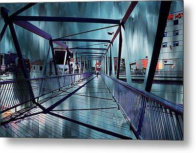 Puente De La Trinidad 1. Malaga Bridges. Spain Metal Print by Jenny Rainbow