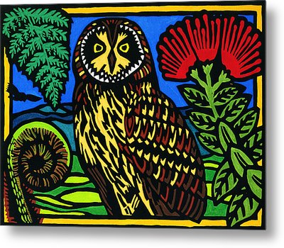 Pueo Mana Metal Print by Lisa Greig