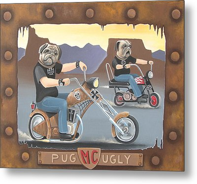 Pug Ugly M.c. Metal Print by Stuart Swartz