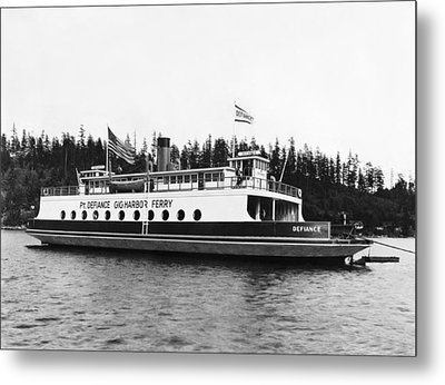 Puget Sound Ferry Boat Metal Print by Underwood Archives