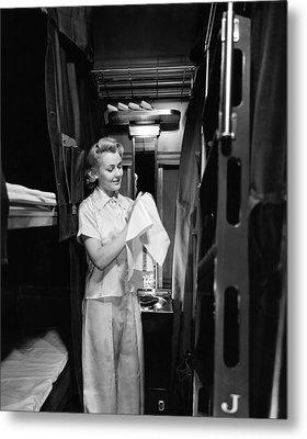 Pullman Coach Sleeper Car Metal Print by Underwood Archives