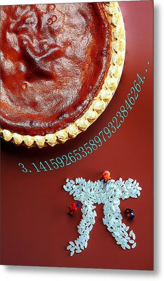 Pumpkin Pie And Pi Food Physics Metal Print by Paul Ge