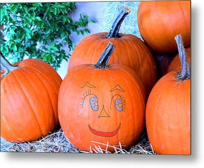 Pumpkin Smile Metal Print by Rosalie Scanlon