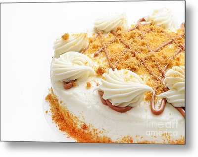 Pumpkin Spice Drizzle Cake 2 Metal Print by Andee Design