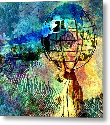 Punishment Of Atlas Metal Print by Tammera Malicki-Wong