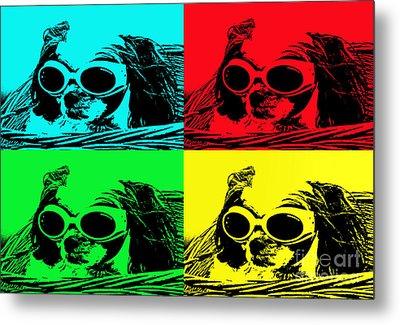 Puppy Mania Pop Art Metal Print by Ella Kaye Dickey