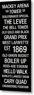 Purdue College Town Wall Art Metal Print by Replay Photos