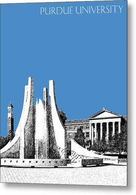 Purdue University 2 - Engineering Fountain - Slate Metal Print by DB Artist