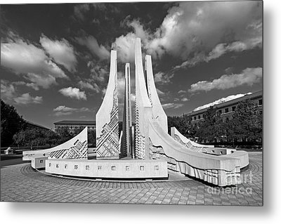 Purdue University Engineering Fountain Metal Print by University Icons