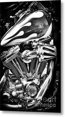 Pure Harley Chrome Metal Print by Tim Gainey