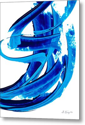 Pure Water 304 - Blue Abstract Art By Sharon Cummings Metal Print by Sharon Cummings