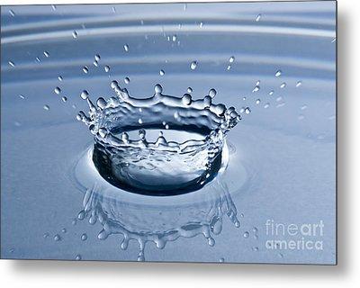 Pure Water Splash Metal Print by Anthony Sacco