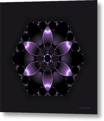 Purple Fantasy Flower Metal Print by Judi Suni Hall