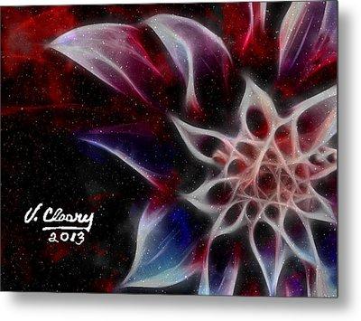 Purple Flower Metal Print by Virginia Cleary
