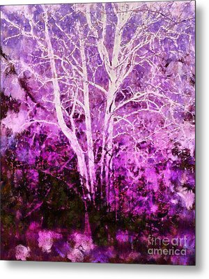 Purple Forest Fantasy Metal Print by Janine Riley