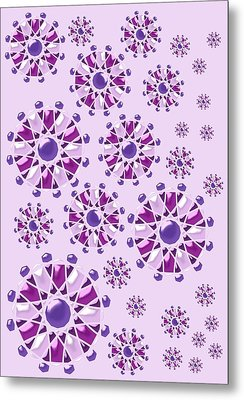 Purple Gems Metal Print by Anastasiya Malakhova