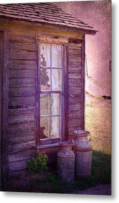 Purple Haze On The Prairie Metal Print by Judy Hall-Folde