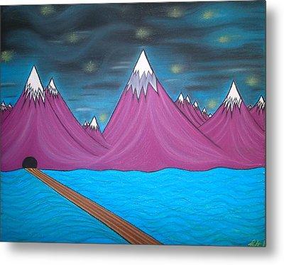 Purple Mountains Metal Print by Robert Nickologianis