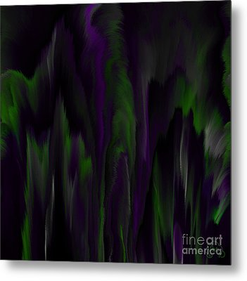 Purple Plumage Metal Print by Patricia Kay