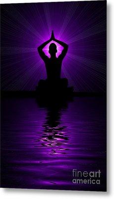 Purple Prayer Metal Print by Tim Gainey