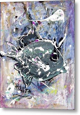 Purple Triggerfish Metal Print by Dustin Porta