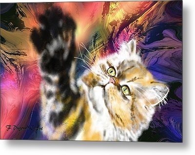 Pussy Metal Print by Francoise Dugourd-Caput