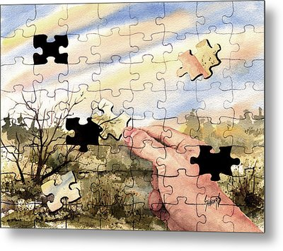 Puzzled Metal Print by Sam Sidders