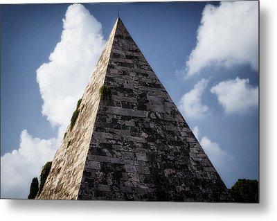 Pyramid Of Rome Metal Print by Joan Carroll