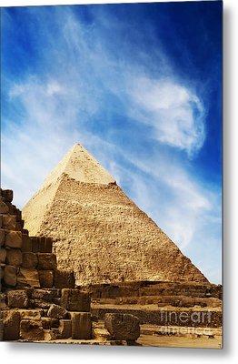 Pyramids In Egypt  Metal Print by Jelena Jovanovic