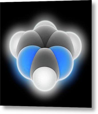 Pyrimidine Molecule Metal Print by Laguna Design
