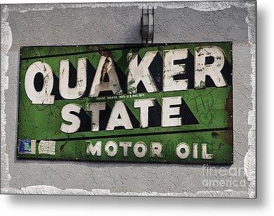 Quaker State Motor Oil Metal Print by Janice Rae Pariza