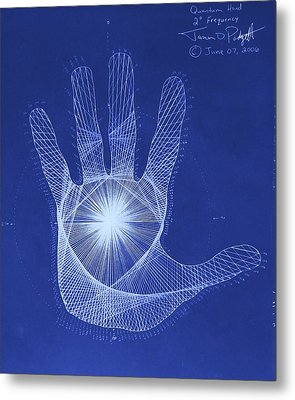 Quantum Hand Through My Eyes Metal Print by Jason Padgett