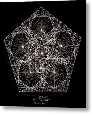 Quantum Star II Metal Print by Jason Padgett