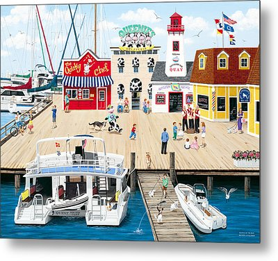 Quartet At The Quay Metal Print by Wilfrido Limvalencia