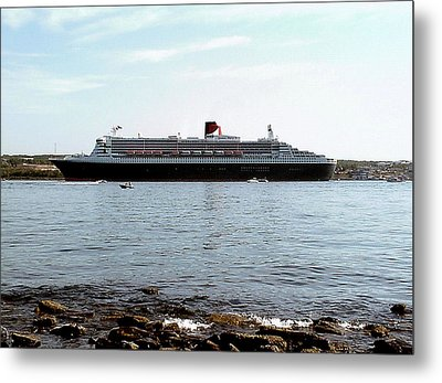Queen Mary 2 Halifax 2004 Metal Print by George Cousins