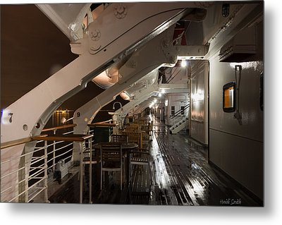 Queen Mary Sun Deck Metal Print by Heidi Smith