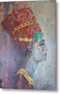 Queen Nefertiti Metal Print by John Henne