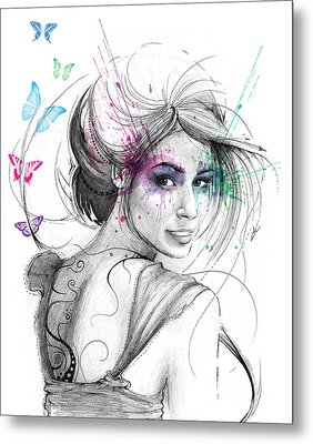 Queen Of Butterflies Metal Print by Olga Shvartsur