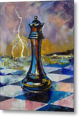 Queen Of Chess Metal Print by Michael Creese
