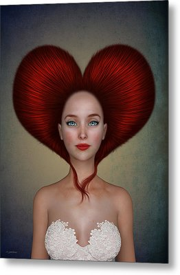 Queen Of Hearts Metal Print by Britta Glodde