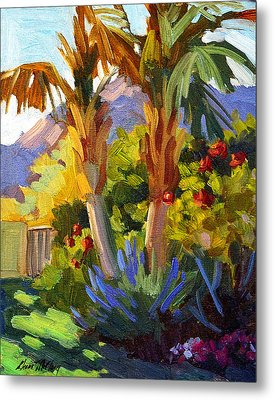 Queen Palms Metal Print by Diane McClary