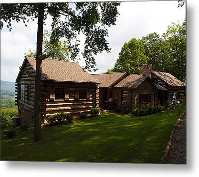 Quiet Cabin On A Hill Metal Print by Robert Margetts