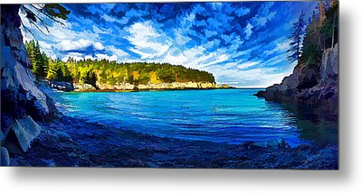 Quiet Cove At Cutler Metal Print by Bill Caldwell -        ABeautifulSky Photography
